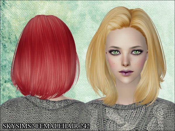 's Skysims Hair 242 s2/hair female medium Hair, Long