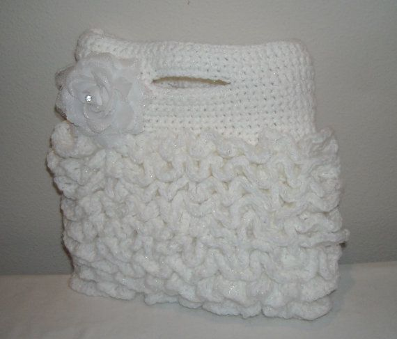 Crochet Tote Bag  bridal bride crochet bag by kathyskrochetnook, $32.00