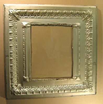 Antique Tin Ceiling Metal 11x14 Silver Picture Frame Shabby Recycled 1492 13 Frame Shabby Silver Picture Frames Tin Ceiling