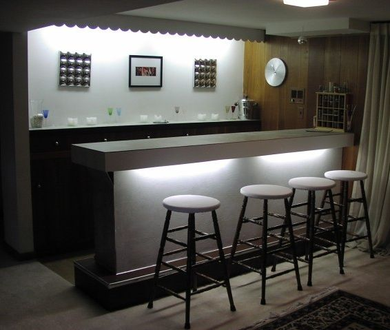 Bar Lighting Design Ideas: The Bar. To Drink Wine To Have Bottles To Make Wine