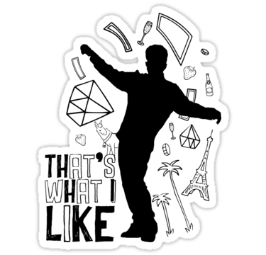 That S What I Like Sticker By Gerapuente In 2021 Cute Stickers Bruno Mars Aesthetic Stickers