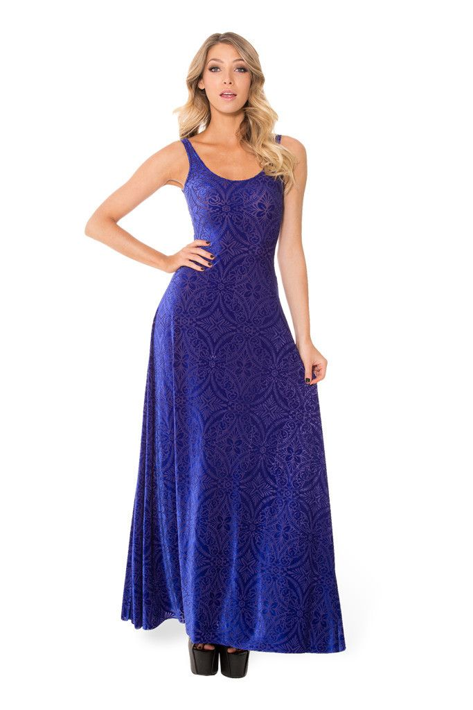 Burned Velvet Blurple Maxi Dress | Pinterest