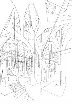 The Architecture Draftsman Architecture Drawing Space Artwork Architecture Sketch