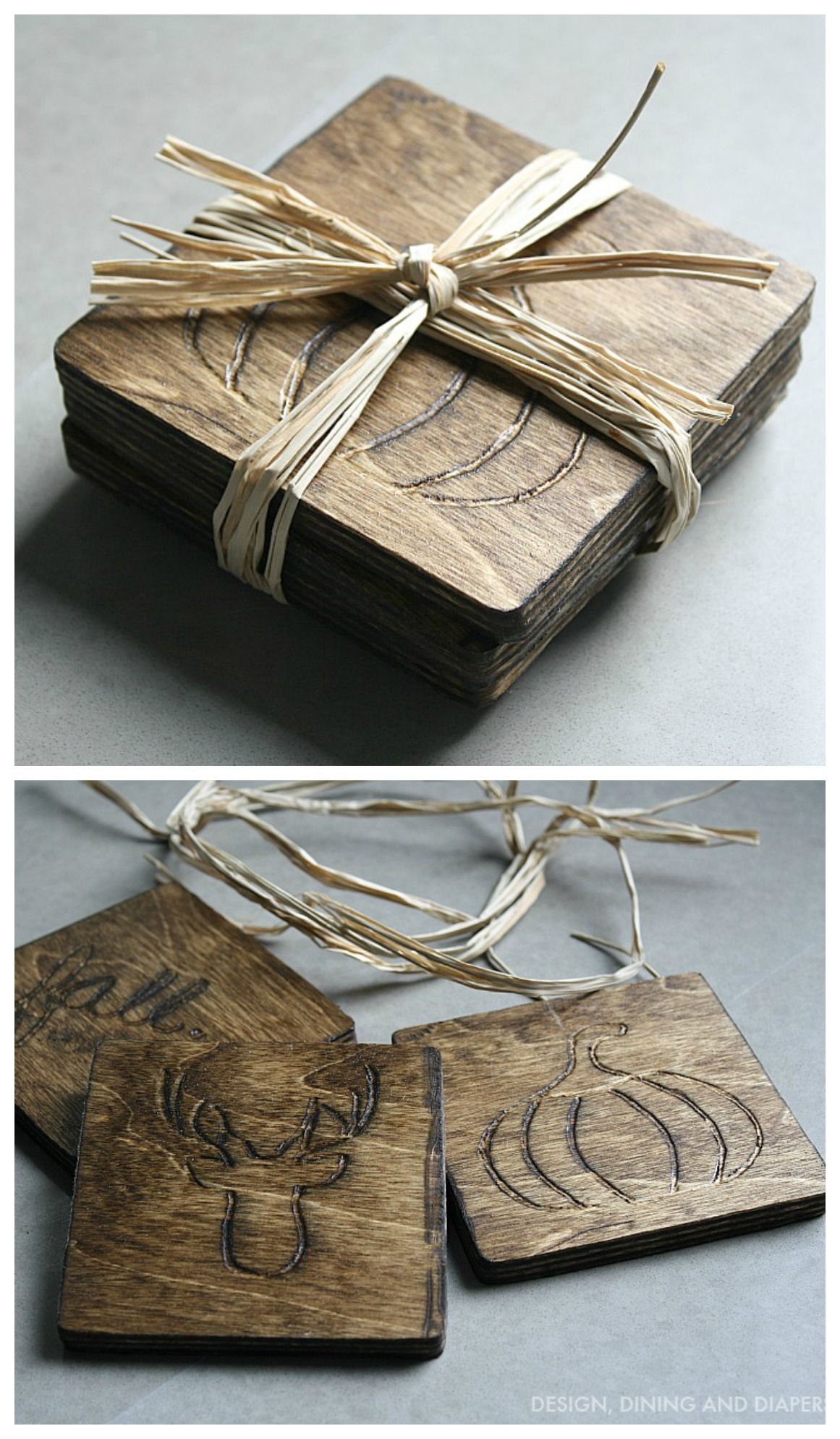 diy wood coasters dremel projects wood burning crafts on useful diy wood project ideas id=80906