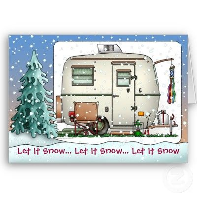 Cute RV Vintage glass egg camper Trailer Holiday Cards