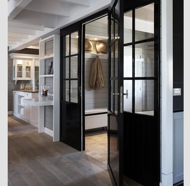 Interior French Doors Modern: French Doors With Two Panel Design And Grills / Glass On