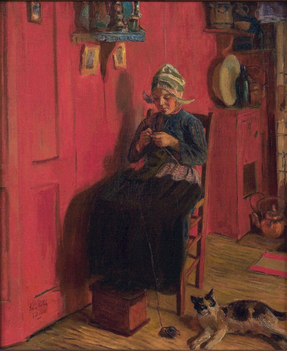 Red Interior, 1906, John Rettig (1858-1932)