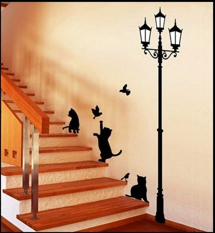 diseños pared   GATOS   Pinterest   Cat, Stairways and House