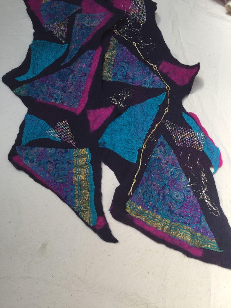 Diana Booth, Felt artist #fibre #felt #textile #handmade #handcrafted #artist #scarf #silk