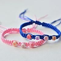 How To Make Square Knot Braided Bracelet With Alphabet Beads
