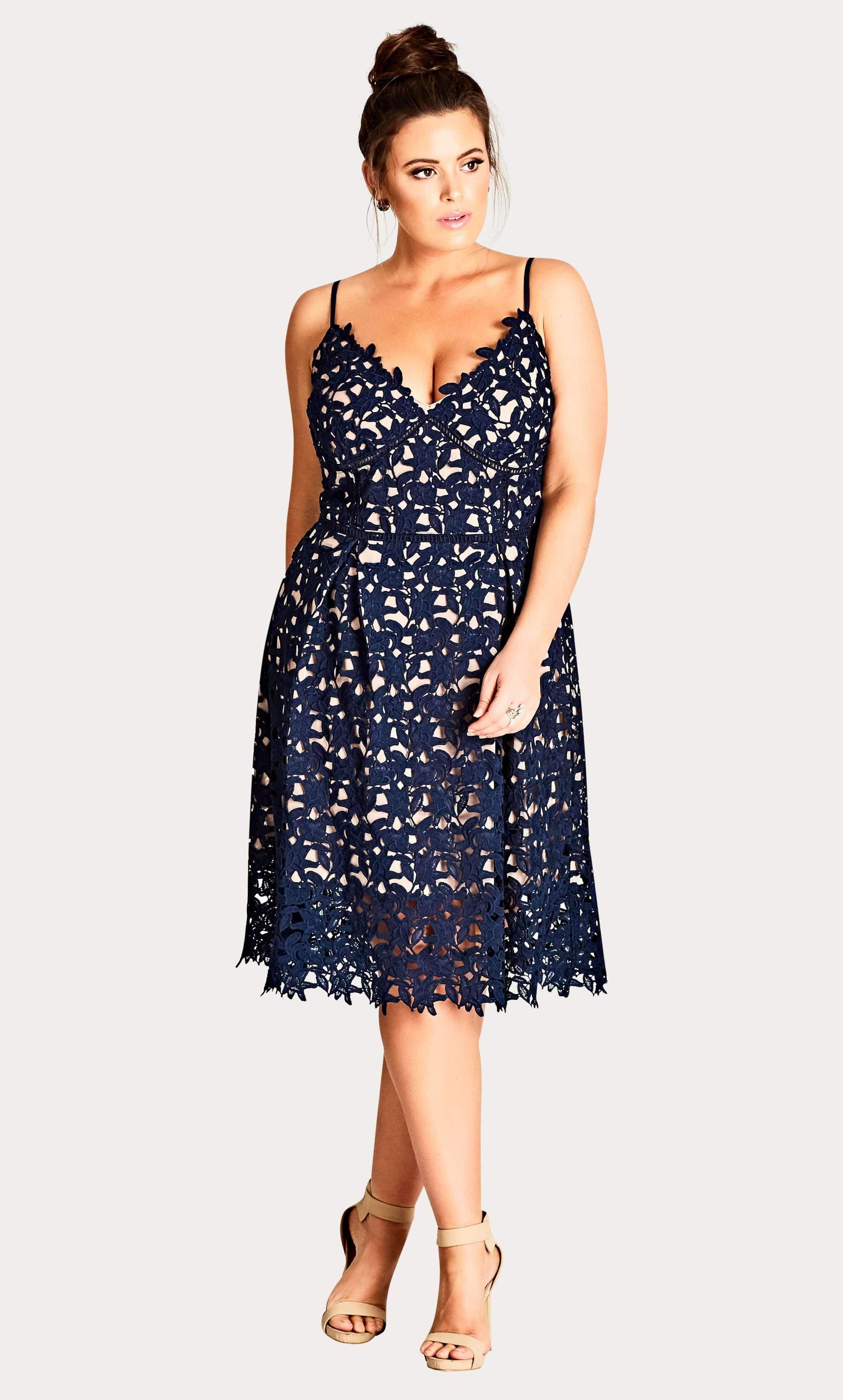 Navy So Fancy Crochet Fit Flare Dress Plus Size Dresses Plus Size Wedding Guest Dresses Flare Dress [ 3984 x 2400 Pixel ]