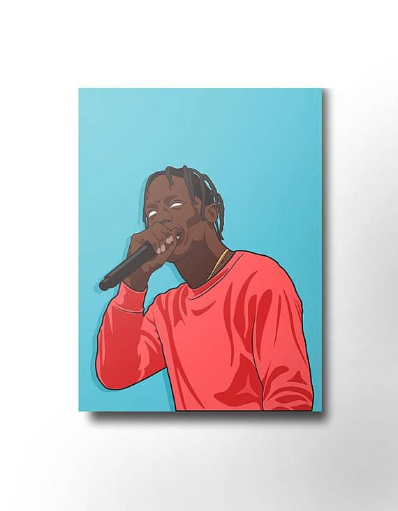 4db717354ecc Travis Scott Canvas / wall art / wall decor / rap canvas / hip hop / rap  artist / dope art / music c