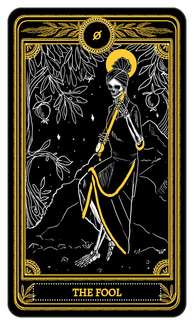 The Fool: 0 : The Fool From The Major Arcana Of The Marigold Tarot