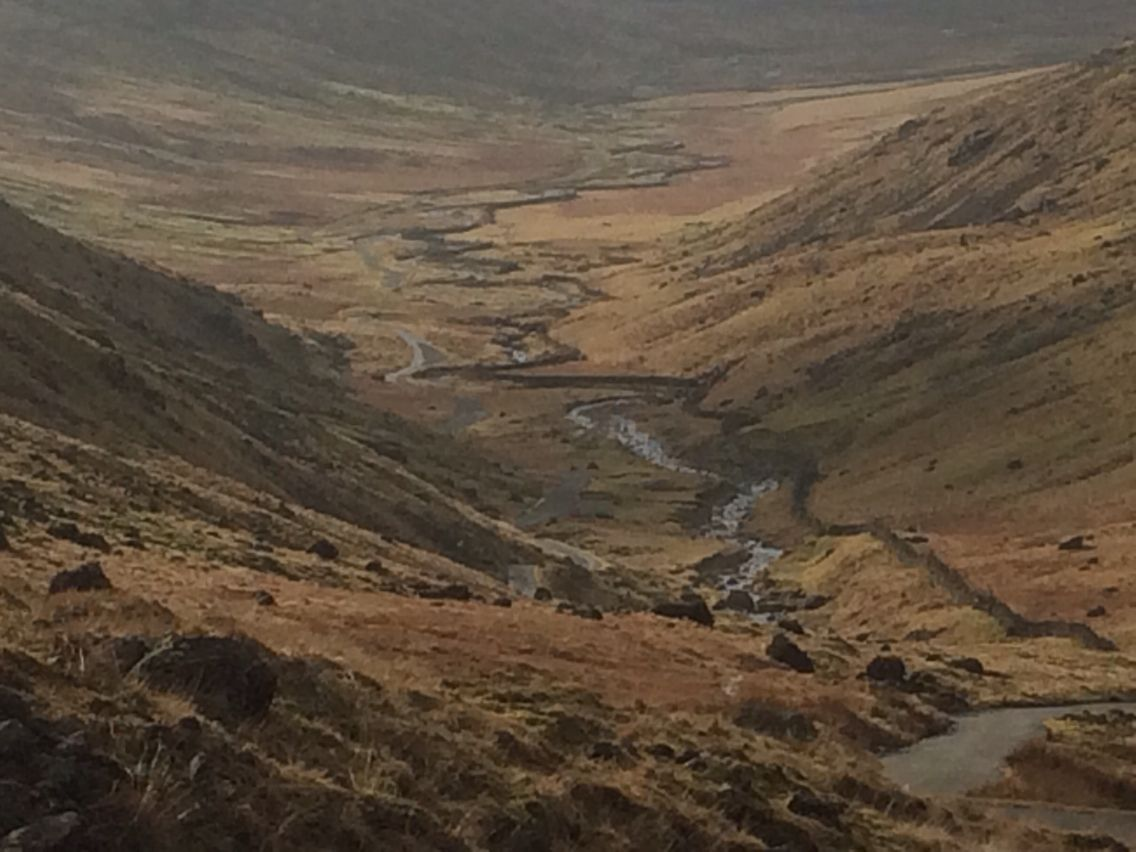 Looking down to the Duddon valley.