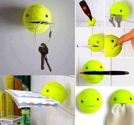 Manualidades fáciles y baratas con pelotas de tenis reciclar - manualidades faciles