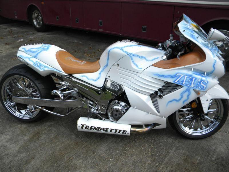 zx14 custom bike for sale chrome exhaust 300 for sale on 2040 motos custom bikes custom. Black Bedroom Furniture Sets. Home Design Ideas