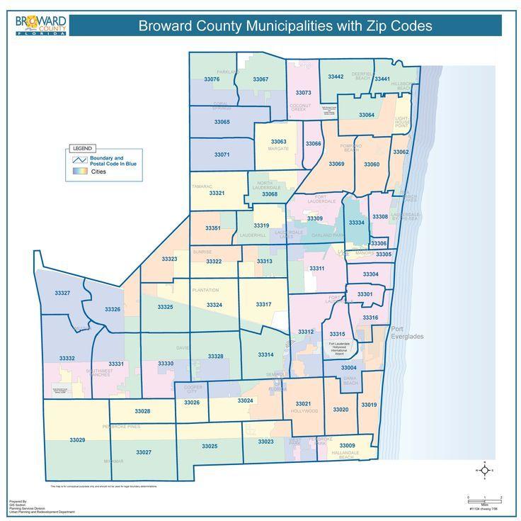 broward county with zip codes miami real estate maps and | Bu Tarz ...