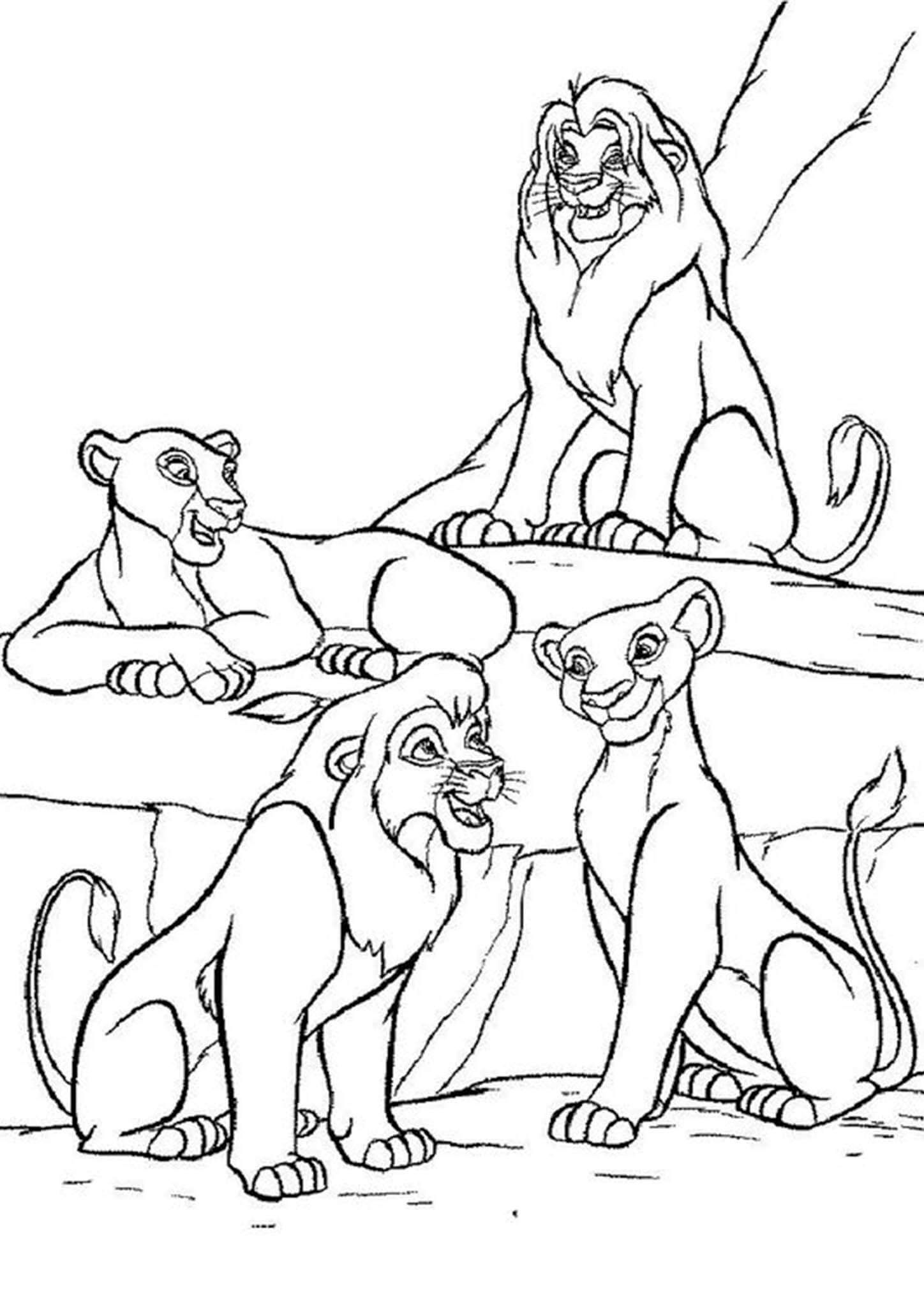 Free Easy To Print Lion King Coloring Pages King Coloring Book Coloring Pages Cool Coloring Pages