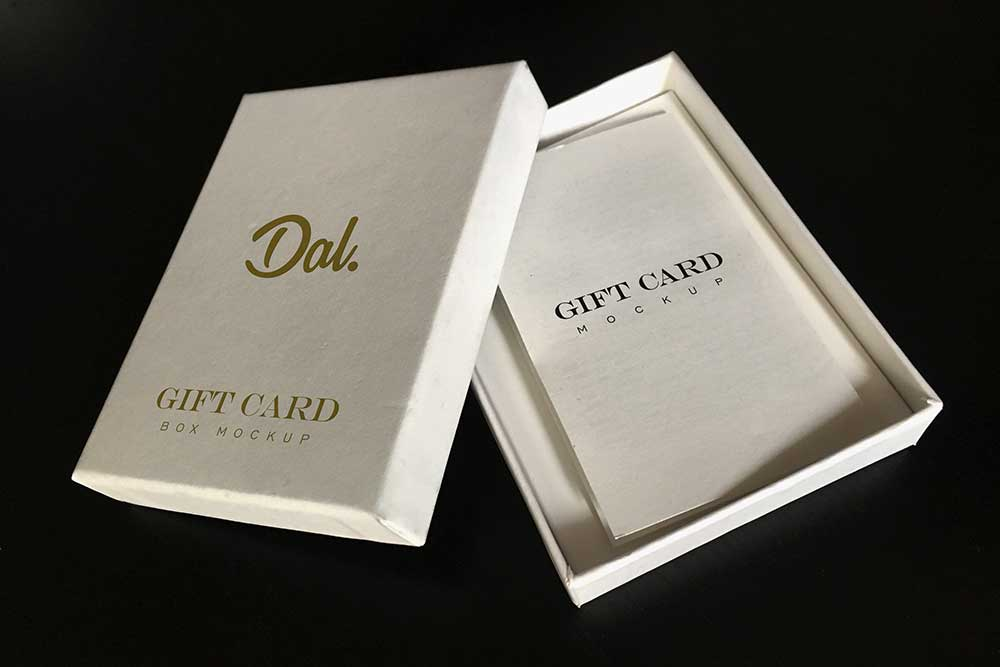 Download Gift Card Box Mockup In Psd Gift Card Boxes Gift Card Design Free Gift Cards