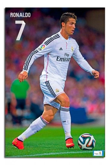 Ronaldo 1 Real Madrid Portuguese Football Player Poster Sport Motivation Star