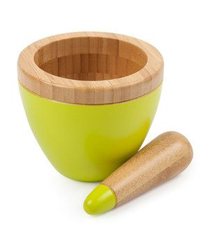 Whether it's cracking cinnamon by hand for a special Mexican hot chocolate or grinding spices for a richly delicious curry, a mortar and pestle is essential for flavorful homemade food. Ensure freshly ground flavors and complete culinary control with this handy set.
