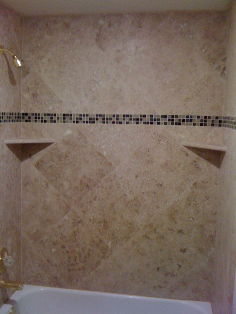 ceramic tile tub surround ideas | Tub surround | Bathroom ideas ...