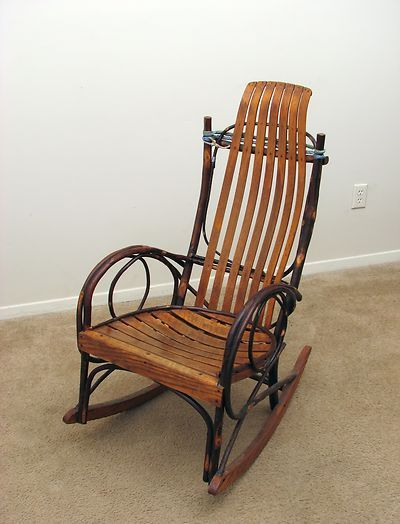 Expensive Chair Antique Old Wood Rocking