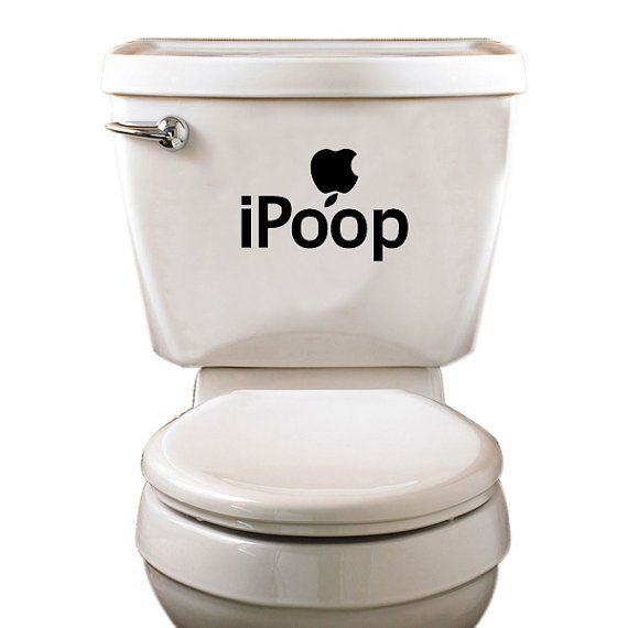 Ipoop Toilet Decal Funny Decals Toilet By Customvinylprints 3 00