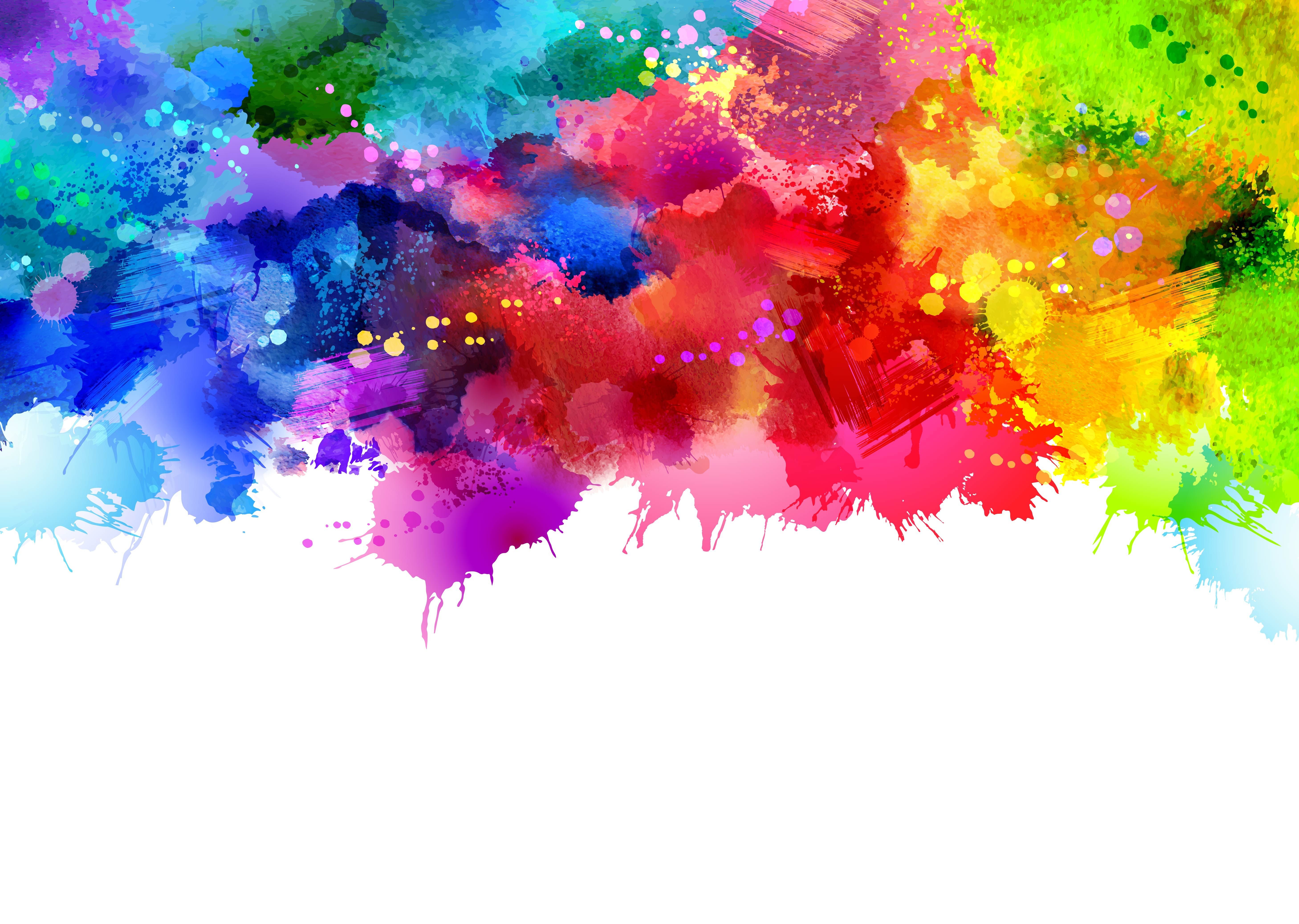 Colorful Watercolor Ink Splashes Vector Background Fondos