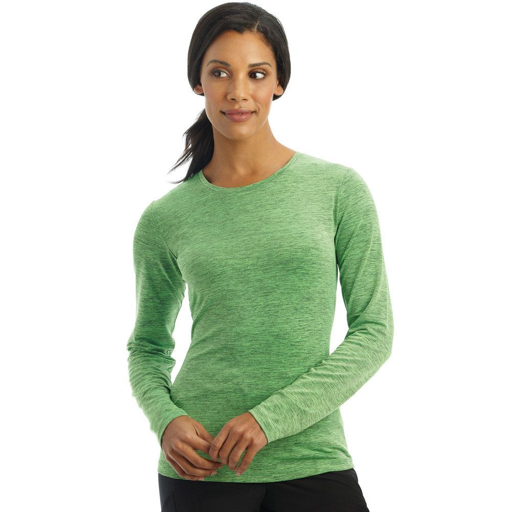 8710d8b7369 Women's Jockey Scrubs Performance RX Dry Comfort Long Sleeve Tee, Size:  Medium, Green