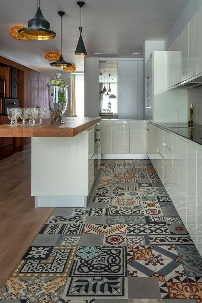 Comment adopter le carrelage patchwork son int rieur Carrelage moderne cuisine