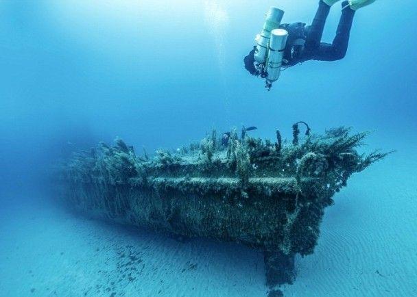 世界圖輯:波蘭漢訪戈佐島 潛水攝鬼魅沉船