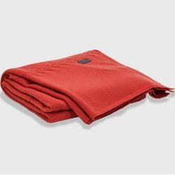 Photo of Gant Fishbone Strickdecke (rot) Gant