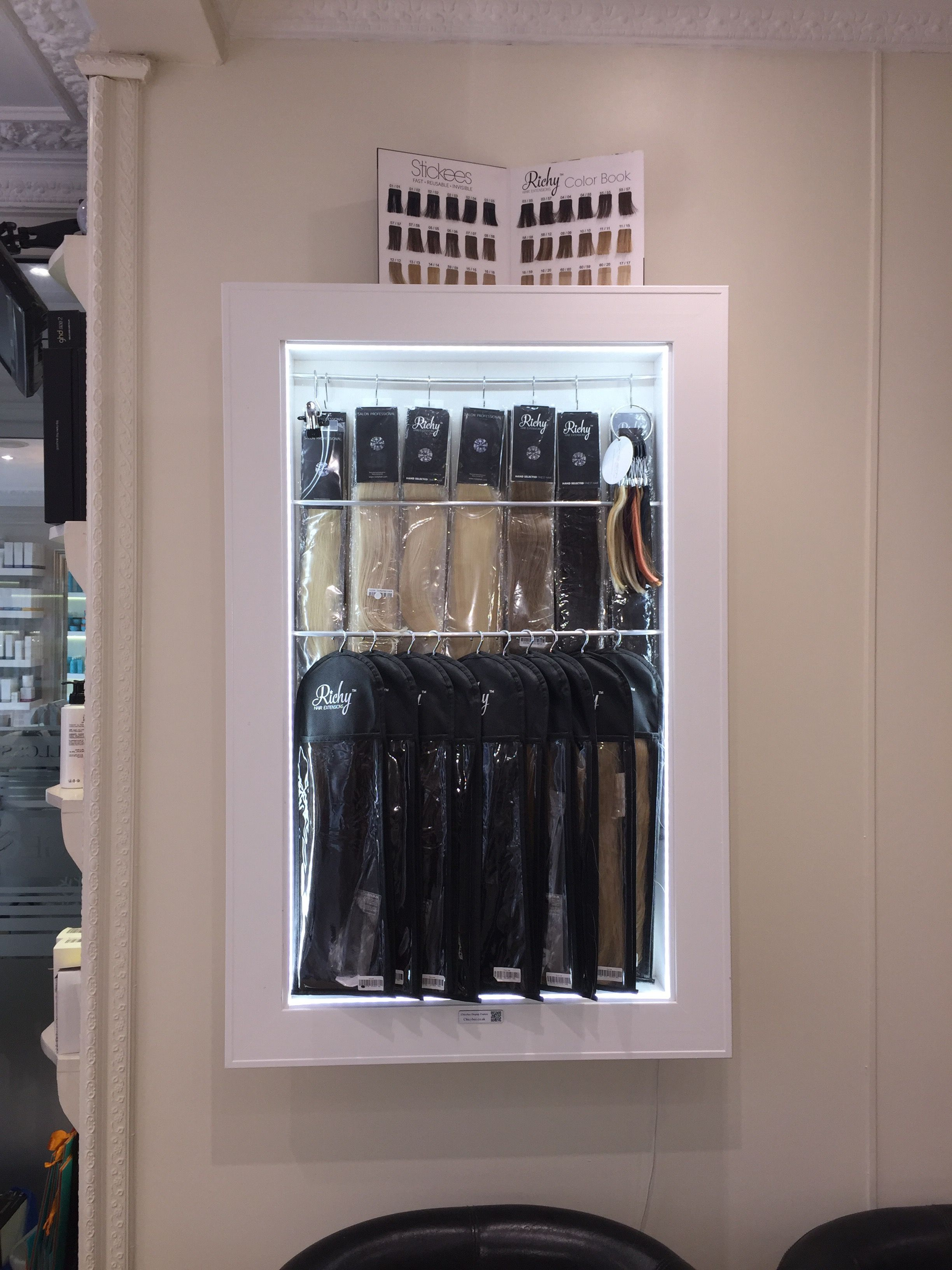 Hair Extensions Display Led Lit Cabinet For George Vallossian Salon