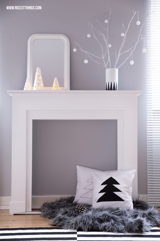 weihnachtsdeko kaminumrandung adventskranz aus beton. Black Bedroom Furniture Sets. Home Design Ideas