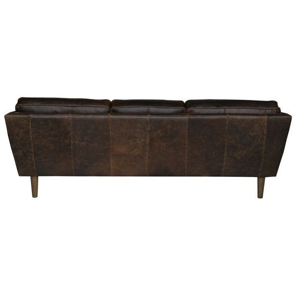 Beatnik Leather Sofa Columbus Chocolate 109 020 Rub Liked On Polyvore Featuring Home