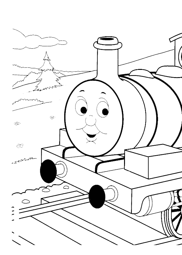 Thomas The Train Coloring Pages | Emmetts birthday | Pinterest