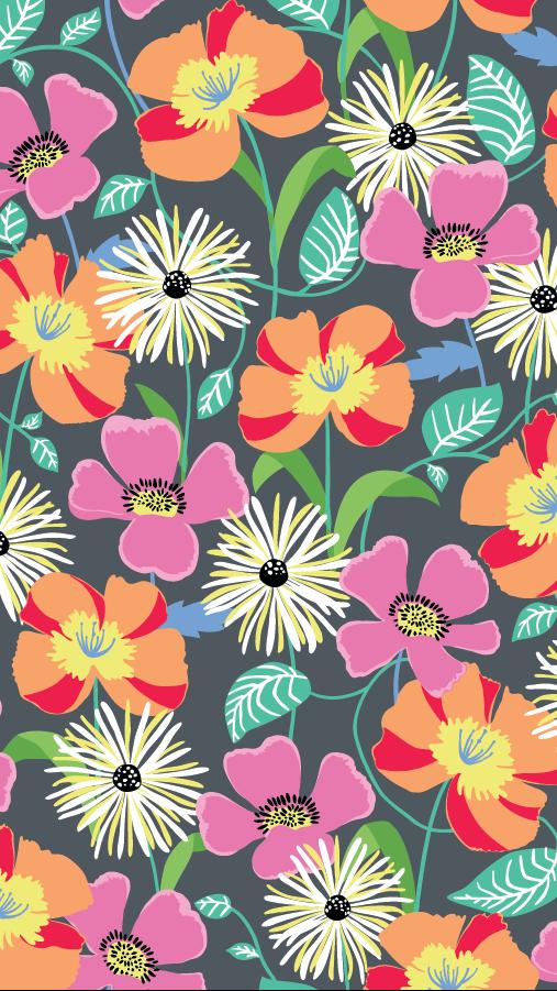 Vera Bradley Jazzy Blooms Vera bradley wallpaper