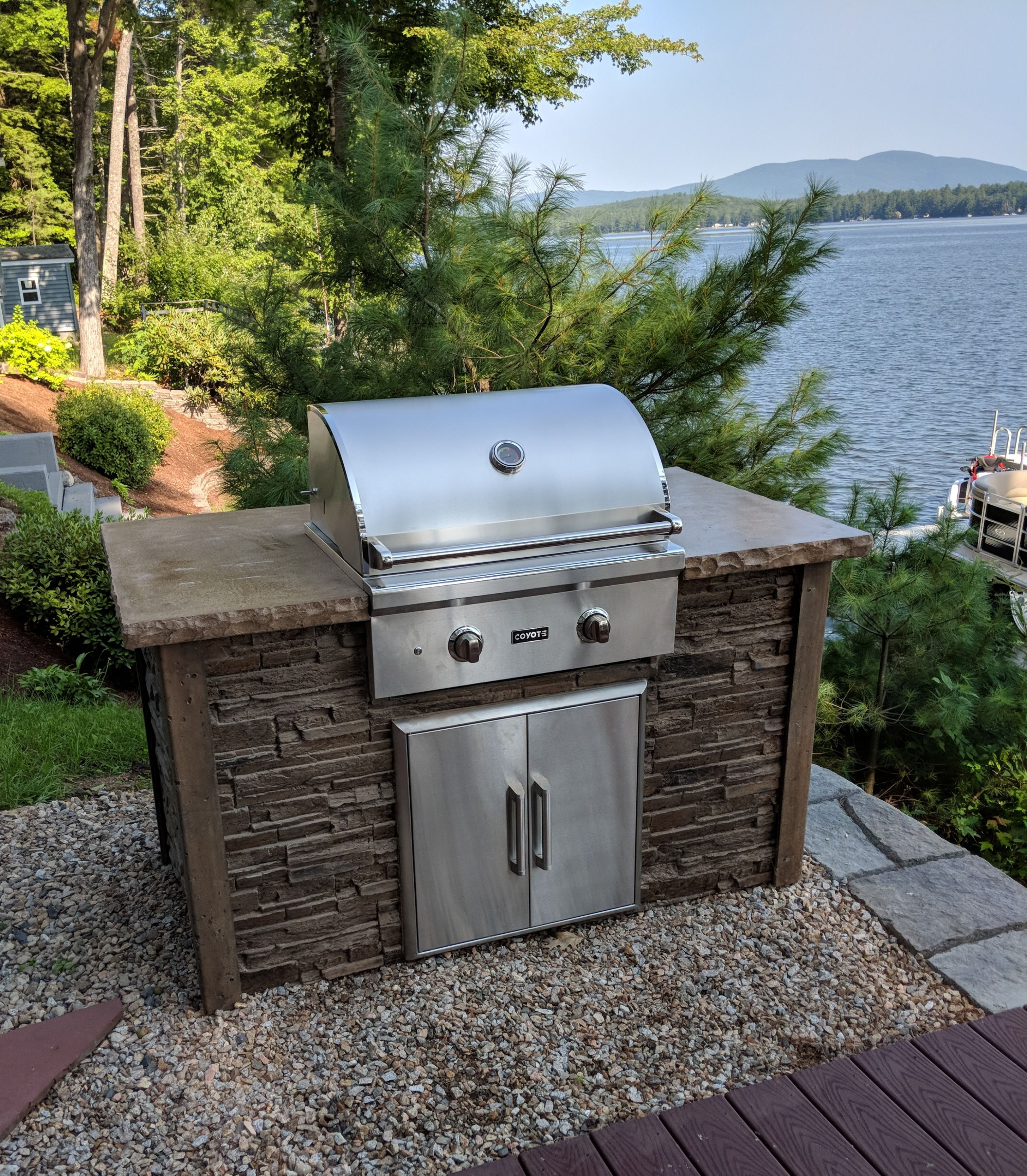 5 Outdoor Kitchen Package Rta Full Bbq Outdoor Kitchen Series With Images Small Outdoor Kitchens Outdoor Kitchen Island Stacked Stone