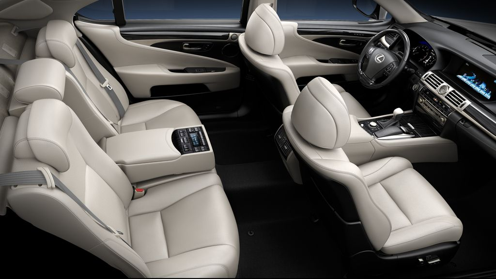 Ls Shown In Light Gray Leather Trim With Shimamoku Espresso Wood Accent