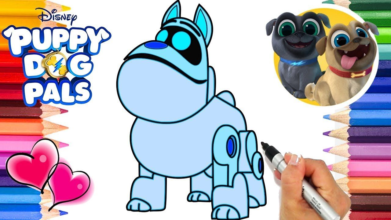 Puppy Dog Pals A.R.F. Coloring Page | Puppy Dog Pals Coloring Book ...
