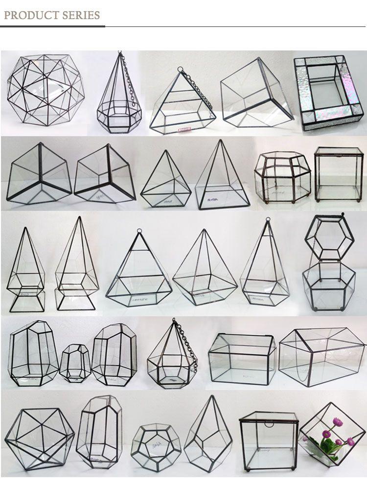Hx-8021g Wholesale Square Geometric Glass Terrarium For Sale - Buy ...