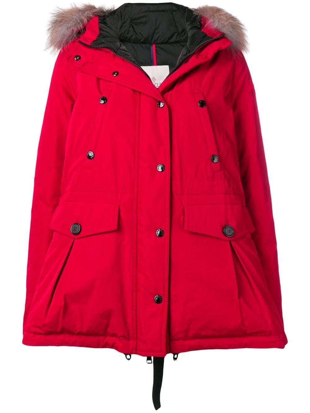 9bc0de6fa Moncler short parka - Red in 2019   Products   Moncler, Parka, Jackets