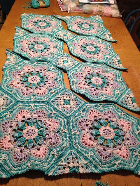 Persian Tile Blanket Pattern By Jane Crowfoot Crochet