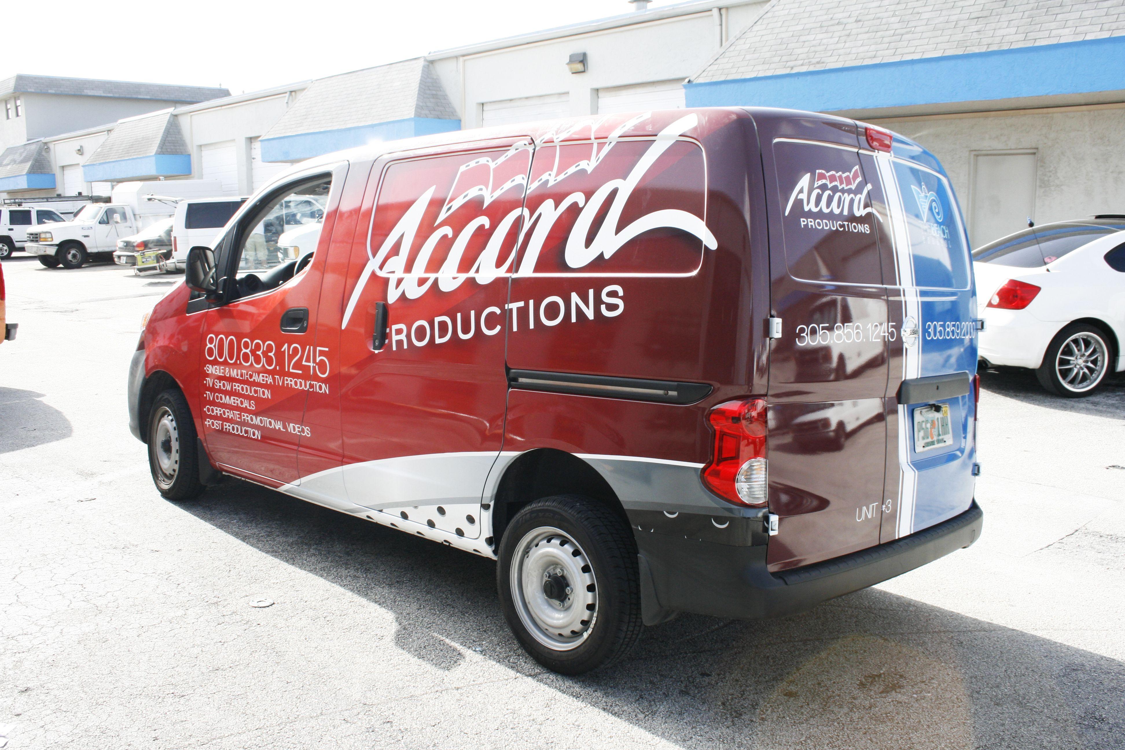 Nissan NV 200 Van Vinyl Graphics Miami Florida http