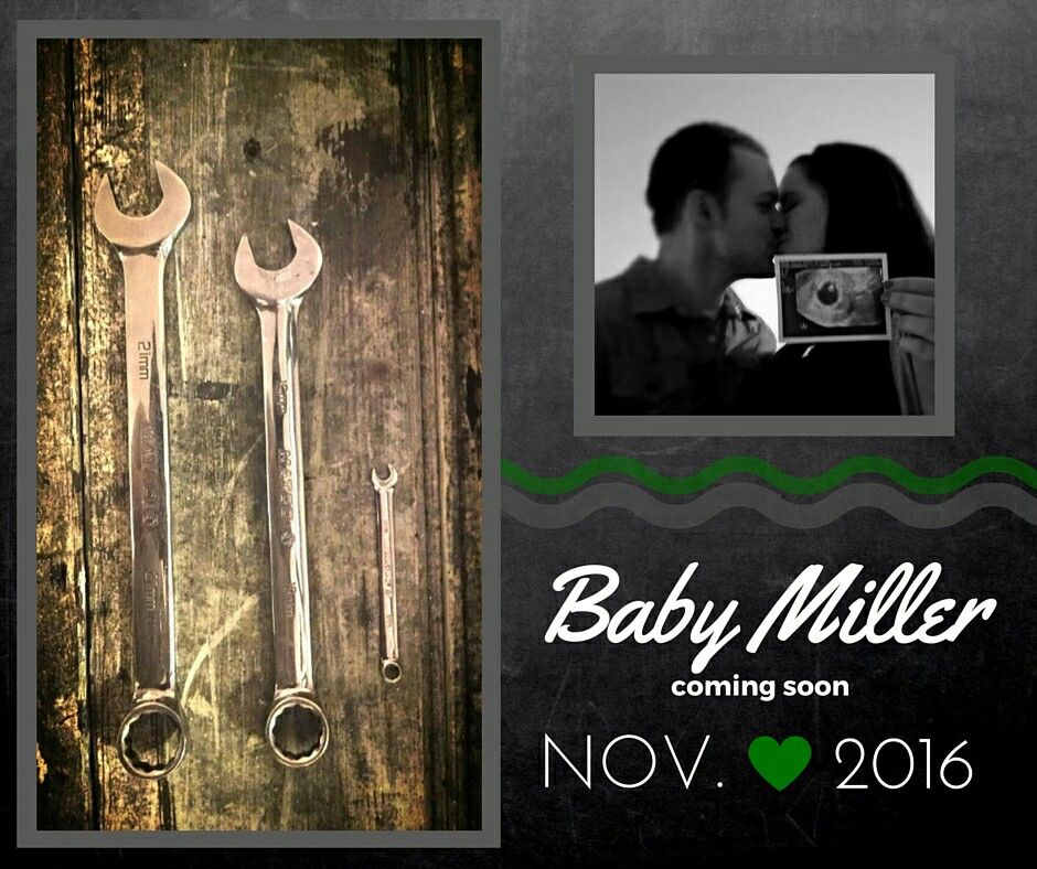Mechanic Baby Announcement Baby Announcement To Husband Baby
