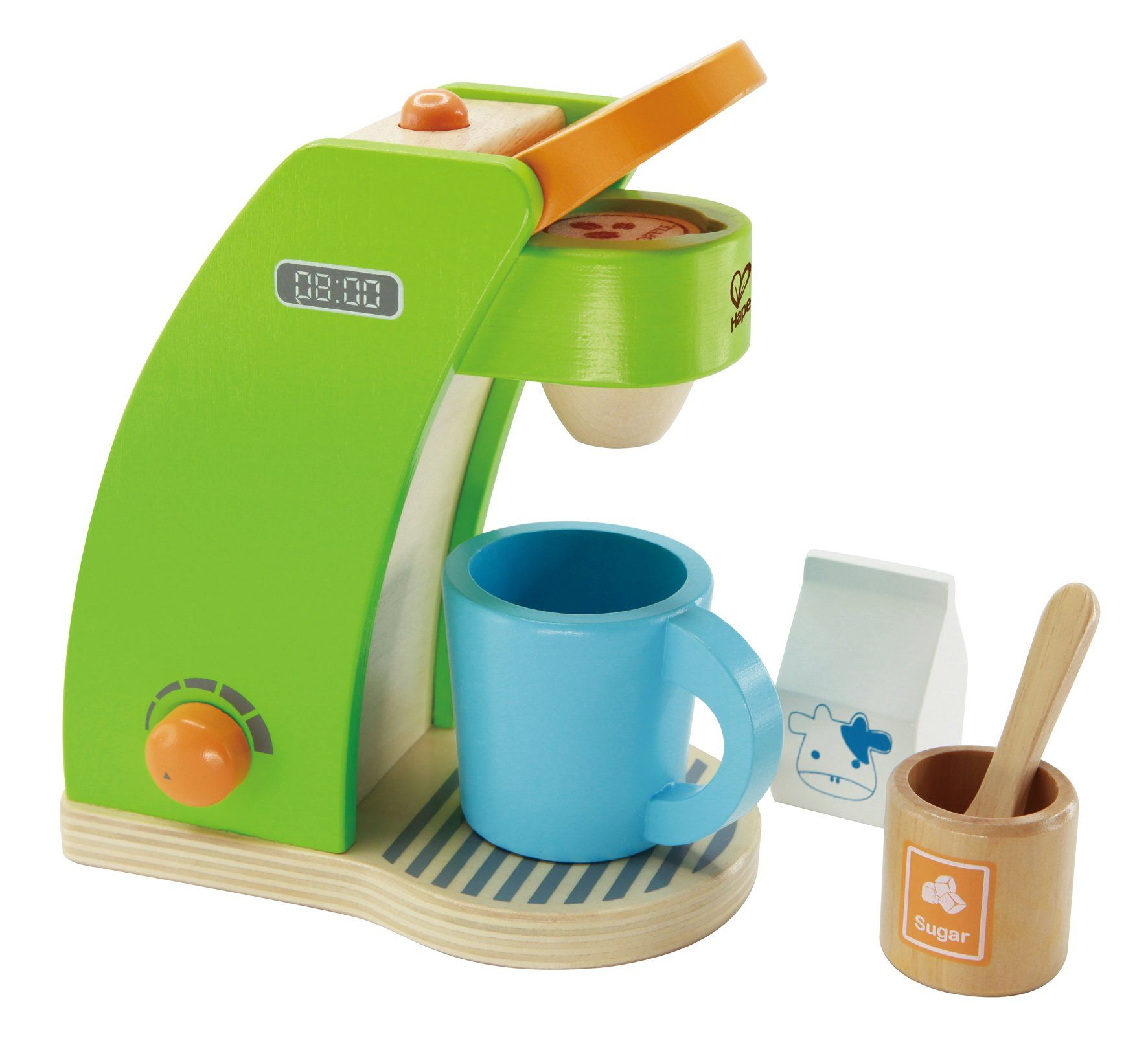 Toys for kids kitchen set  Hape Kidus Coffee Maker Wooden Play Kitchen Set with Accessories