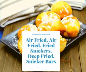 Air Fryer, Air Fried, Fried Dough Balls (Pizza Dough