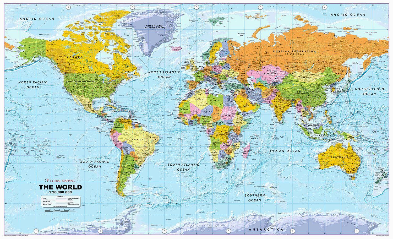 World Map Pdf 1 World Political Map Detailed World Map Framed World Map