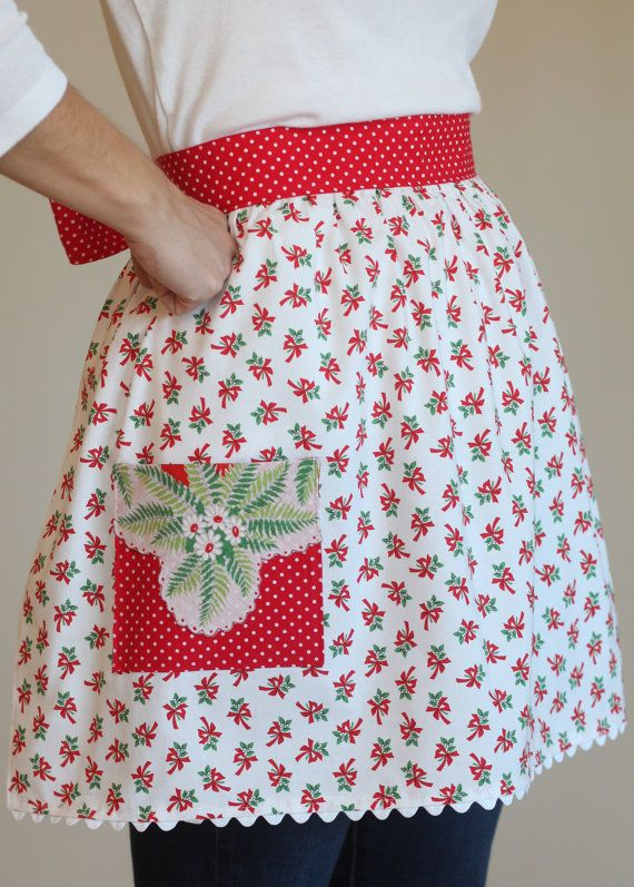 Christmas+Half+Apron+Christmas+Hostess+Gift+by+tadacreations ...